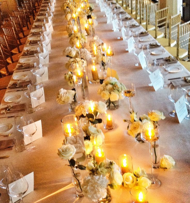 Gala Dinner Table Set Up Pinterest