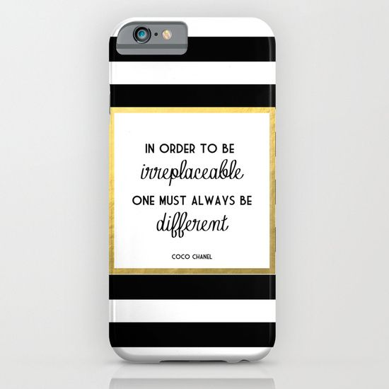 Coco Gold Irreplaceable Fashion Quote iPhone & iPod Case
