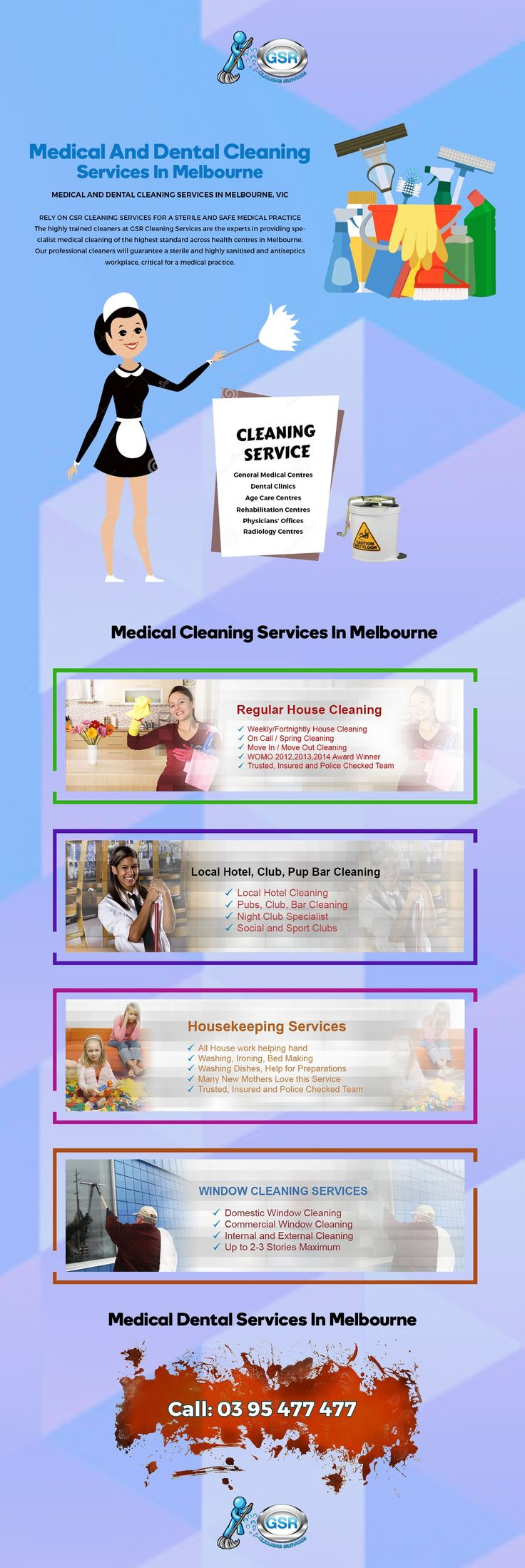 The highly trained cleaners at GSR Cleaning Services are the experts in providing specialist medical cleaning of the highest standard across health centres in Melbourne.