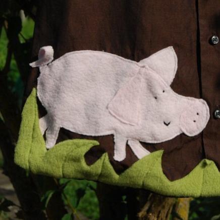 """Recycling-Sommerschlafsack """"Schwein gehabt"""" von kamaeleon"""