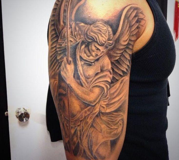 ber ideen zu st michael tattoo auf pinterest st michael st michael und m nner tattoos. Black Bedroom Furniture Sets. Home Design Ideas