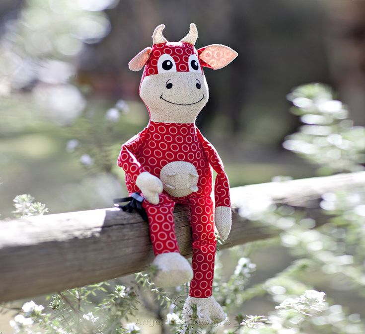 Cow Pattern. Cleo the Cow Stuffed Cow Pattern PDF Cow Sewing