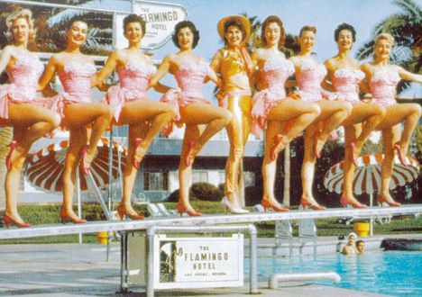 Vintage las vegas pretty in pink flamingo hotel for Nspi pool show vegas