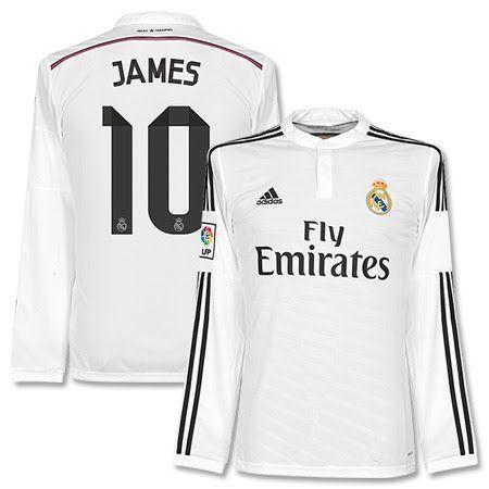 Real Madrid Shirt Thuis 2014-2015 (Lange Mouwen)  James 10