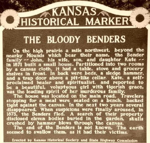 The Bloody Benders of Labette County ~ a TRUE Ghost Story! |  I wrote this years ago for Halloween and I keep recycling it every year. This post also gets more views (from all over the world) than anything else I've ever written. I did quite a bit of research for this piece. I wish I had listed my sources at the time. Be assured that this story is as accurate as any you'll find about the Benders. ~ sekanblogger