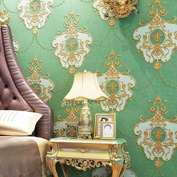 Blooming Wall Non Woven French Elegant Lace Trellis Pattern Wallpaper 20 8 In32 8 Ft 57 Sq Ft Per Roll Vintage Gree Home Wallpaper Home Decor European Decor