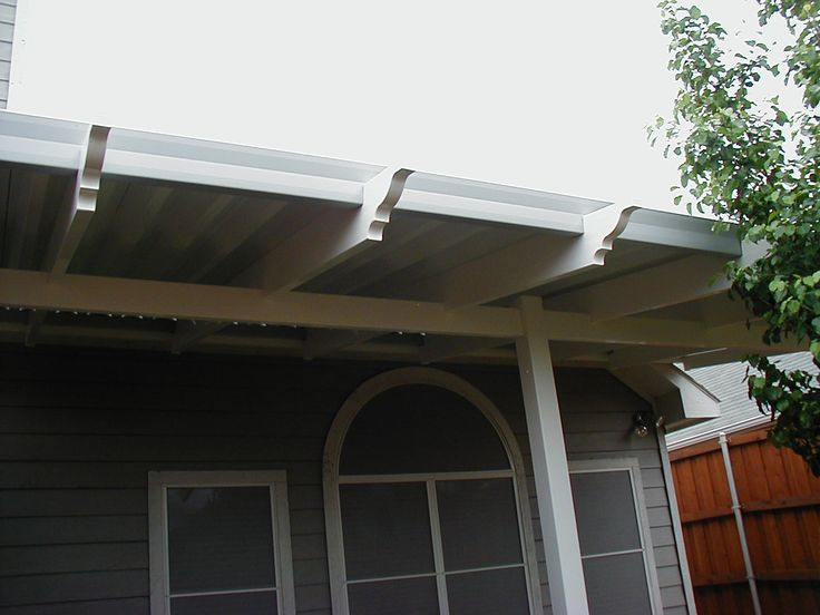 Aluminum Patio Covers Do Not Have To Look Ugly. Vinyl Trim Adds Decoration  To The