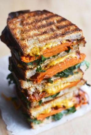 Vegan Balsamic Sweet Potato Grilled Cheese Sandwich