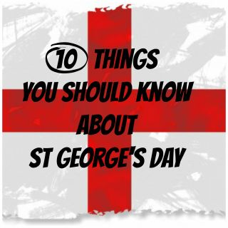 10 Things you should know about St George's Day. St George's Day is a time to celebrate the patron saint of England.  It's a super excuse to enjoy or learn about some of England's customs and traditions, and also to think about knights and castles and dragons!