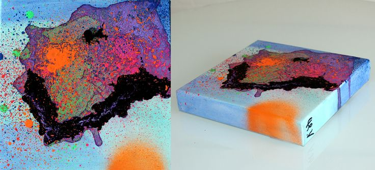 Small abstract painting by artist Mette Vester