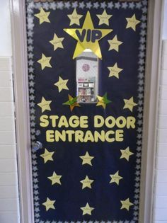 ... Stage Door Entrance! | Hollywood Themed Back-To-School Door Display