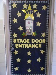 ... Stage Door Entrance! | Hollywood Themed Back-To-School Door Display