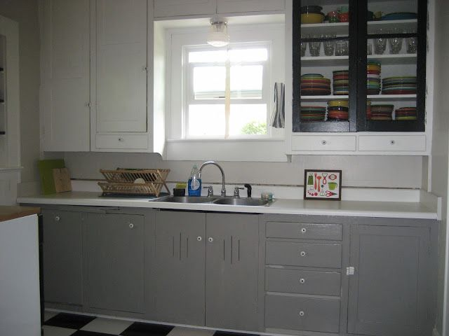 Grey cabinets dovetail by sherwin williams via swash for Kitchen ideas 2018 grey