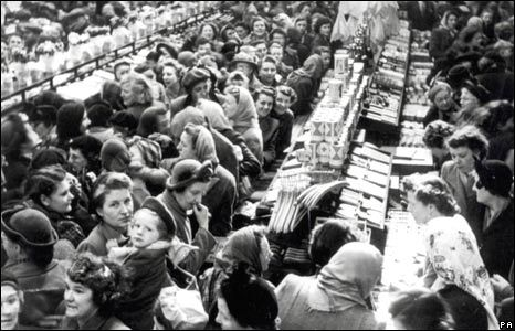 Shoppers at Woolworth's in the 1930s.