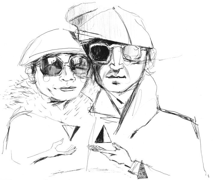 John Lennon & Yoko Ono Signed 8x10 B&W Photo Beatles ... |Sketches John Lennon And Yoko Ono
