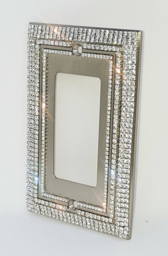 Deco Style Crystal Rhinestone Bling Decorative Light Switch