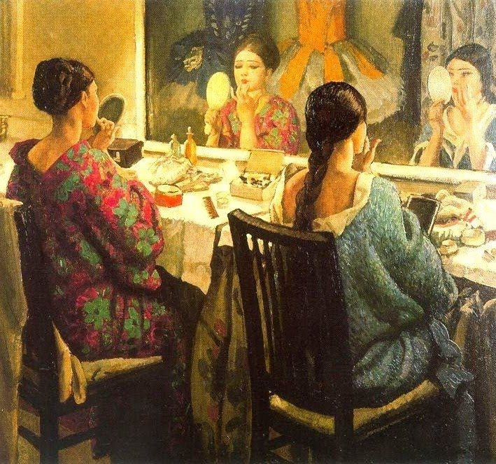 goodolarthistory:  Artist: Laura Knight Title: The Dressing Room Date: 1924