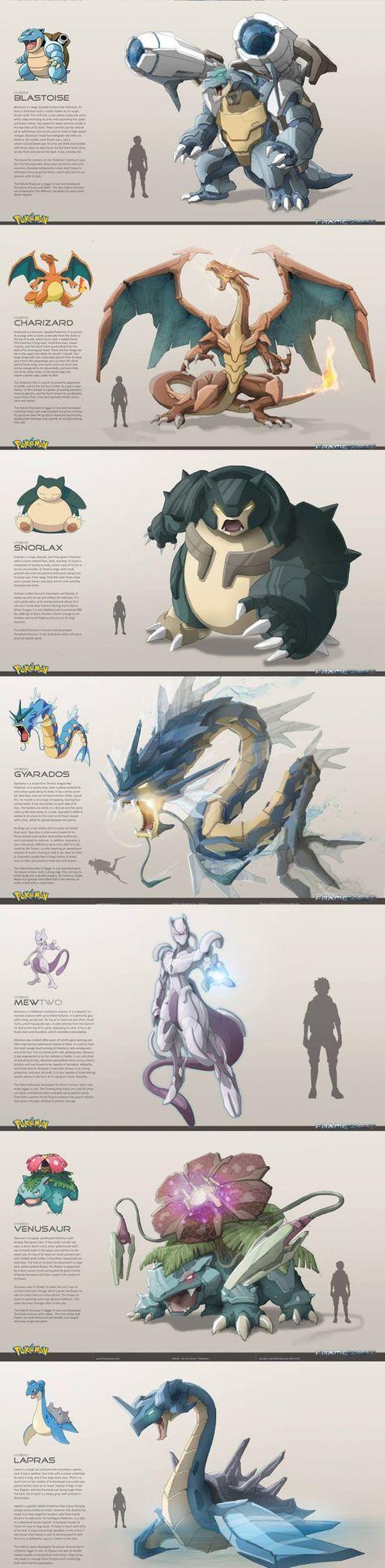Los pokemones en la vida real.
