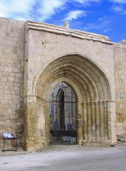 Portada románica de Santa María de la Varga - Uceda, Campiña Alta del Henares, provincia de Guadalajara