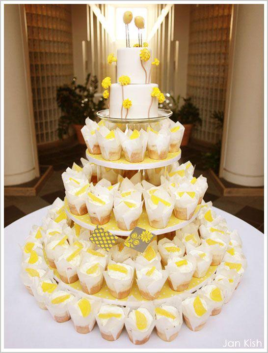 Lemon Cupcakes In Tulip Wrappers