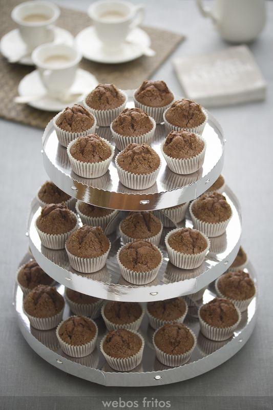 Mini magdalenas de chocolate | webos fritos