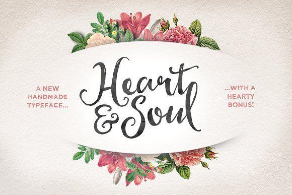 Heart & Soul Typeface by Nicky Laatz on @creativemarket