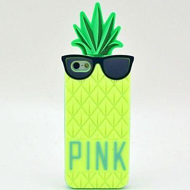 Use Patrón Gafas Piña Caso suave de silicona para el iPhone 5/5S (colores opcionales) – USD $ 8.99
