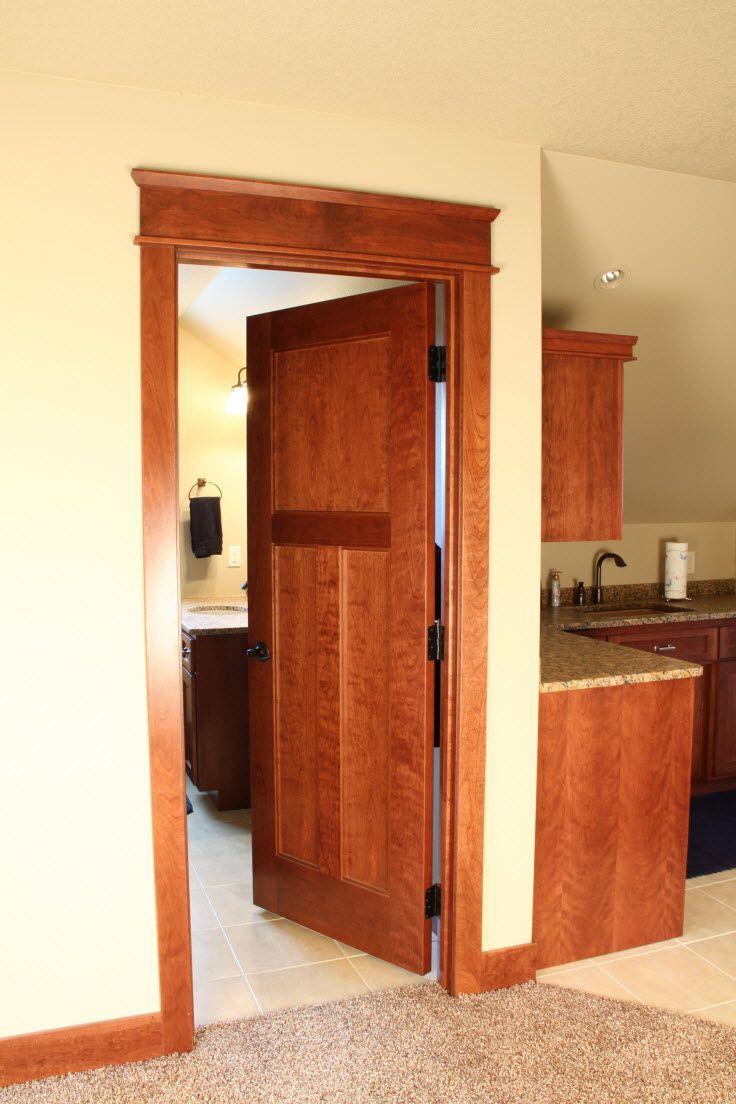 Panel quarter sawn white oak interior door craftsman interior doors - Interior Doors 3 Panel Wood Craftsman Style Interior Door With Door Topper Bayer Built