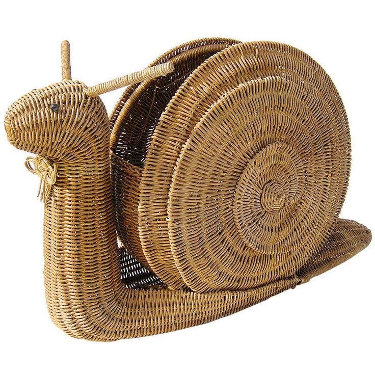 "Wicker ""Snail"" Rack, 1950's -60's 
