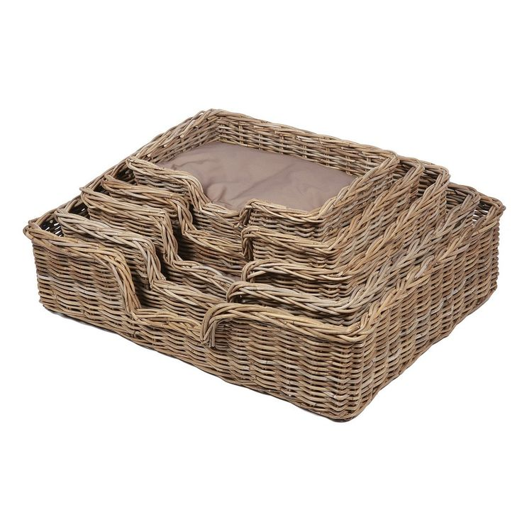 Bonsoni Cairo Set of 5 Rectangular Dog Wicker Baskets with Cushions by Kaldors  This range reflects a passion and belief that wicker can not only bring a more beautiful wayto restore order to our cluttered and fast-paced life.   http://www.bonsoni.com/cairo-set-of-5-rectangular-dog-wicker-baskets-with-cushions-by-kaldors