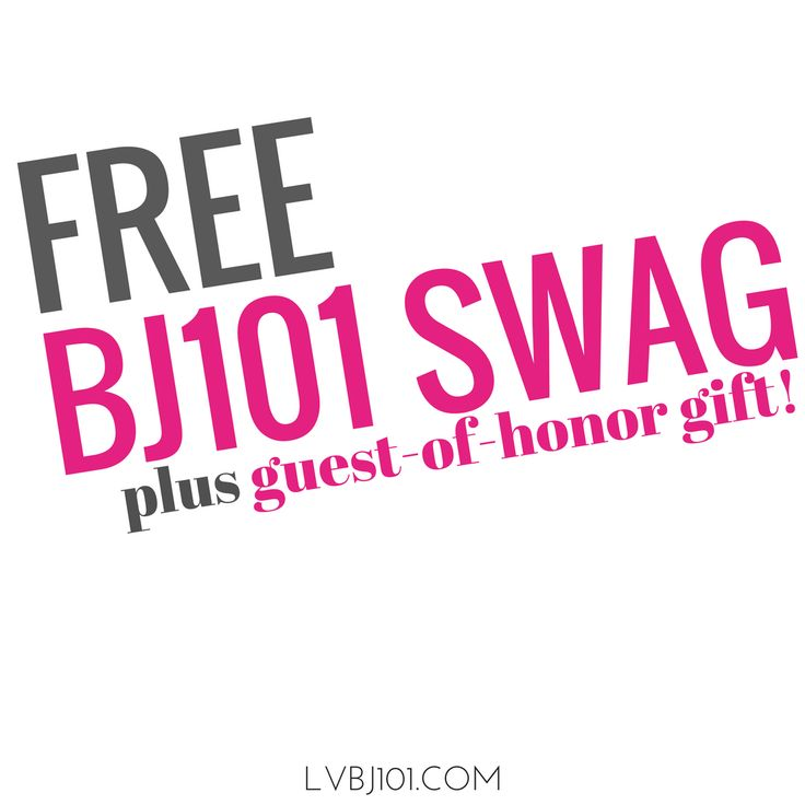 Host a BJ101 workshop and get FREE SWAG!  Plus...the guest-of-honor receives a special gift!  BJ101 is an awesome addition to your Las Vegas Bachelorette Pary, Girls Night Soiree, Birthday, or any other Vegas excursion!