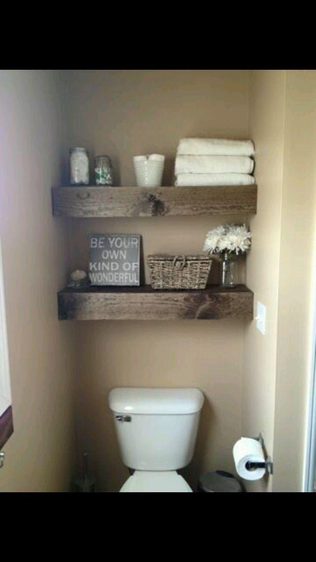 Leuke kleur en stoere balken voor op wc bron: huisje kijken op Facebook
