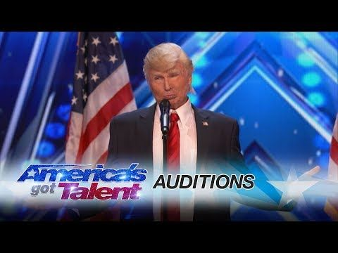 The Singing Trump: Presidential Impersonator Channels Bruno Mars - America's Got Talent 2017 - YouTube