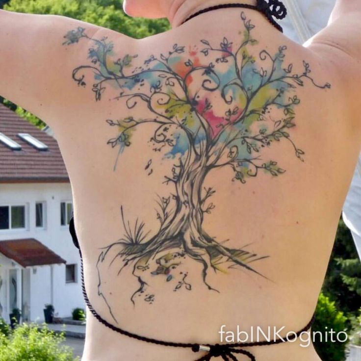 """182 Likes, 6 Comments - fabINKognito tattoos (@fabinkognito) on Instagram: """"got this healed shot from my happy client #healedtattoo #treeoflifetattoo #treetattoo…"""""""