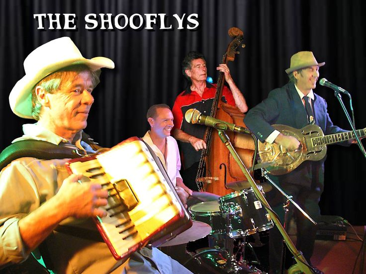The Shooflys Slim Pickes & Dr. Baz (aka Barry Ferrier) With Rod Coe on bass.