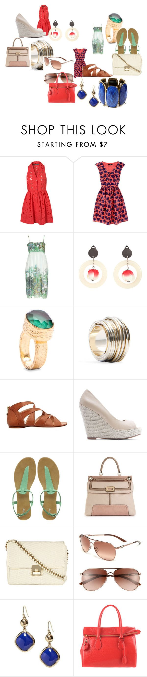"""Going through summer"" by atwoz ❤ liked on Polyvore featuring Topshop, Oasis, Bandolera, H&M, MANGO, Alejandro Ingelmo, GUESS, Reiss, Oakley and Banana Republic"