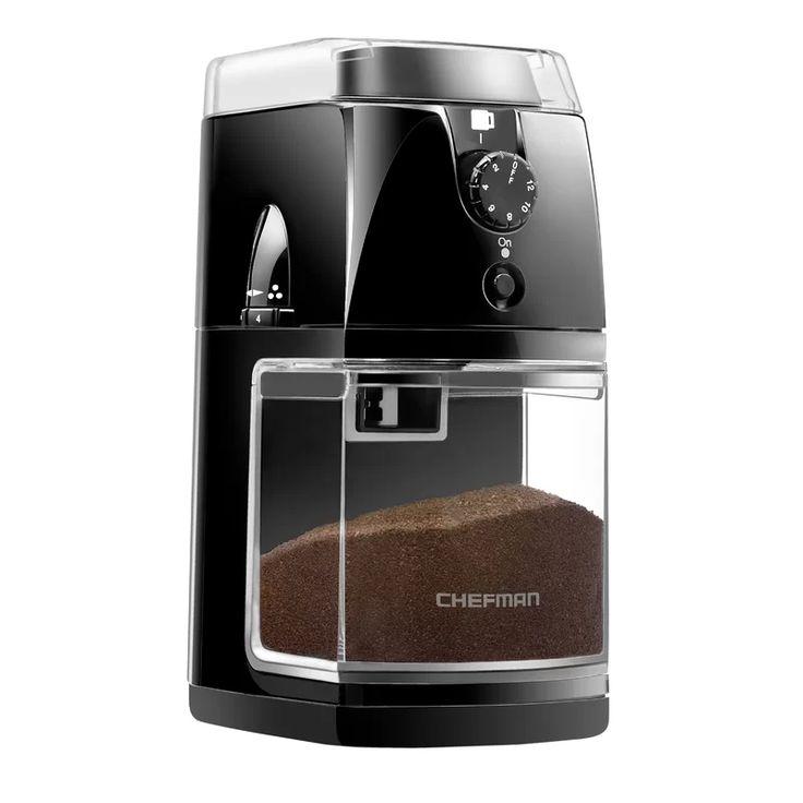 Chefman programmable coffee grinder electric burr mill