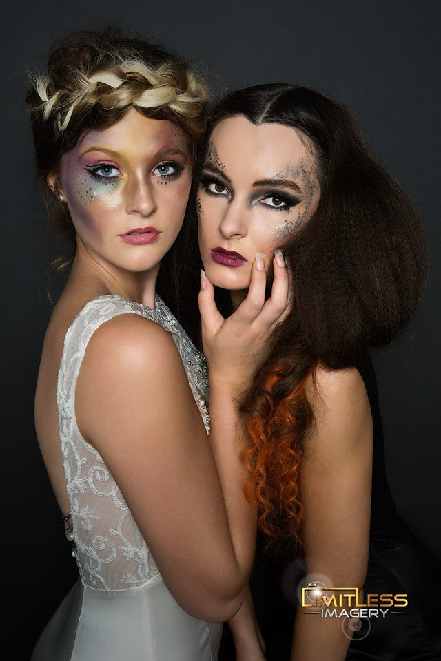 colour vs dark creative makeup by www.unveilthebeauty.com.au hair by Madeline Todd from Rogue & Regal