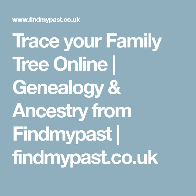 Trace your Family Tree Online   Genealogy & Ancestry from Findmypast   findmypast.co.uk