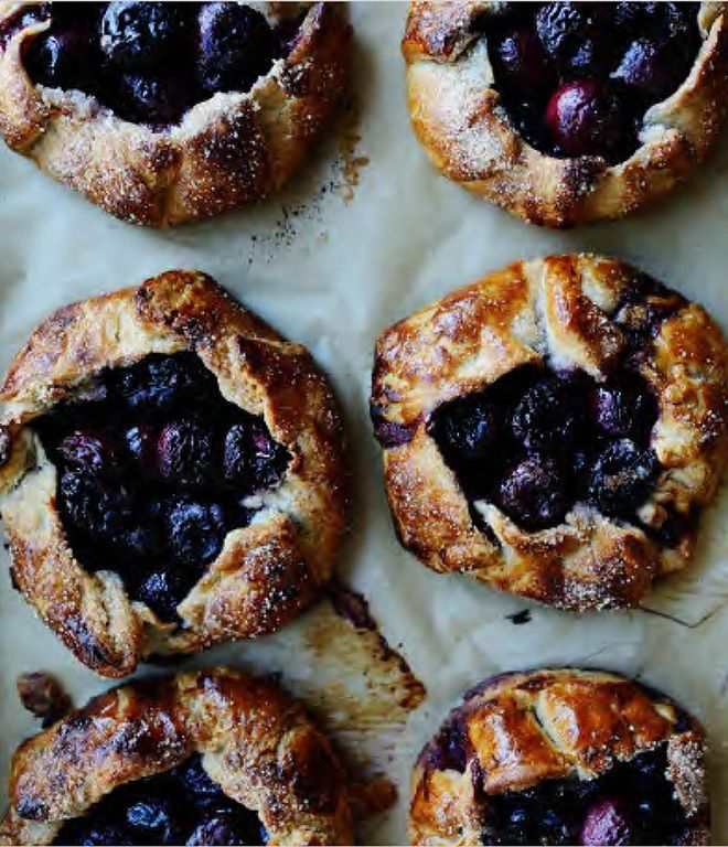 Cherry Galettes from Tartine Book No. 3 by Chad Robertson.