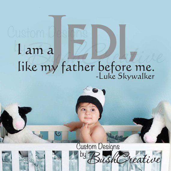 Vinyl Wall Decal Star Wars Luke Skywalker by bushcreative on Etsy, $40.00