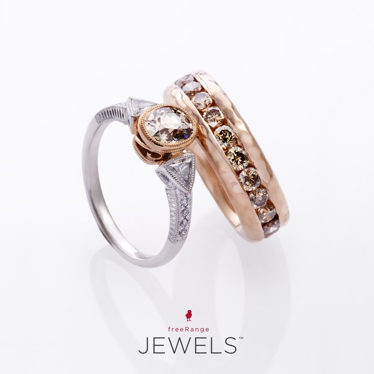 Custom 18ct White & Rose Gold Diamond engagement ring.   Because luxury is personal.     Shop www.freerangejewels.co.za
