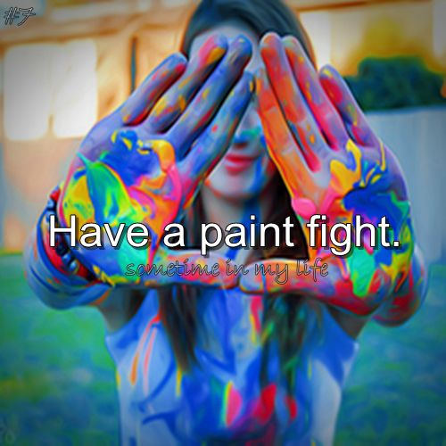 For Maria's date, she wants to have a paint fight! She wants to do something that won't create a tense environment, and won't be too romantic too quickly. After all, they don't really know each other yet. The romance can come later.