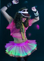 80s Neon Fancy Dress Idea - also ideal for clubbing/raves