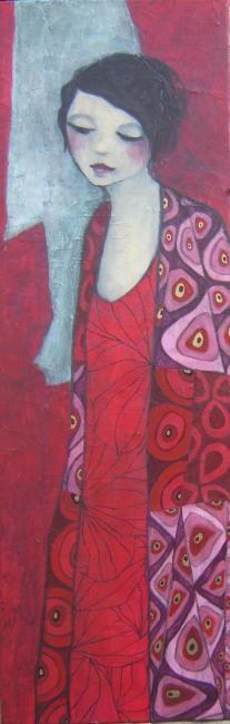 Garance est amoureuse... - Peinture,  40x120 cm ©2010 par carine b -