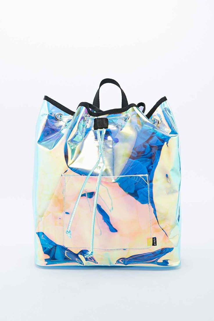 iridescent   mother-of-pearl   gleaming   shimmering   metallic rainbow   shine   UNIF - Sac à dos Vapor irisé