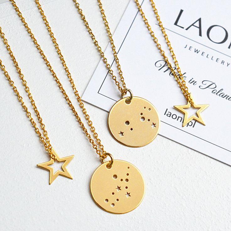 Biżuteria konstelacje gwiezdne. Zobacz na: https://laoni.pl/bizuteria-ze-znakiem-zodiaku #znakzodiaku #biżuteria #prezent #naszyjnik #bransoletka
