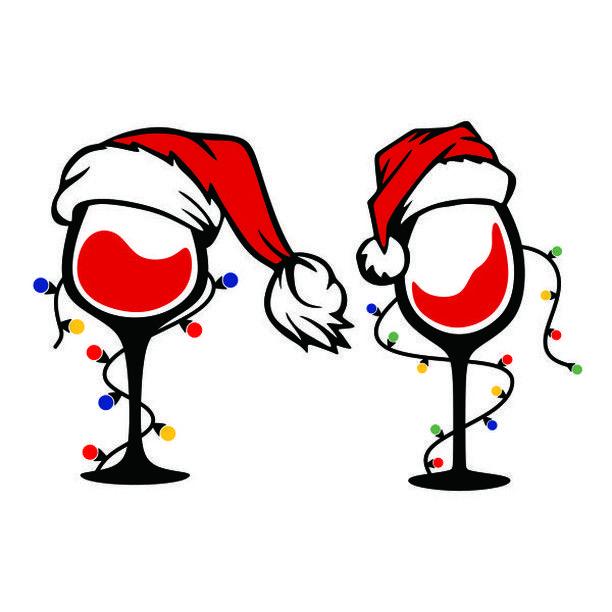 "Cuttable Designs SVG on Instagram ""Christmas Lights Wine"