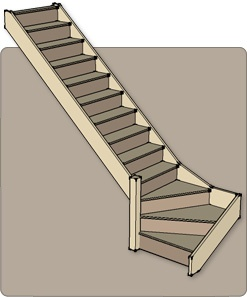 Stair with Brazilian Cherry treads