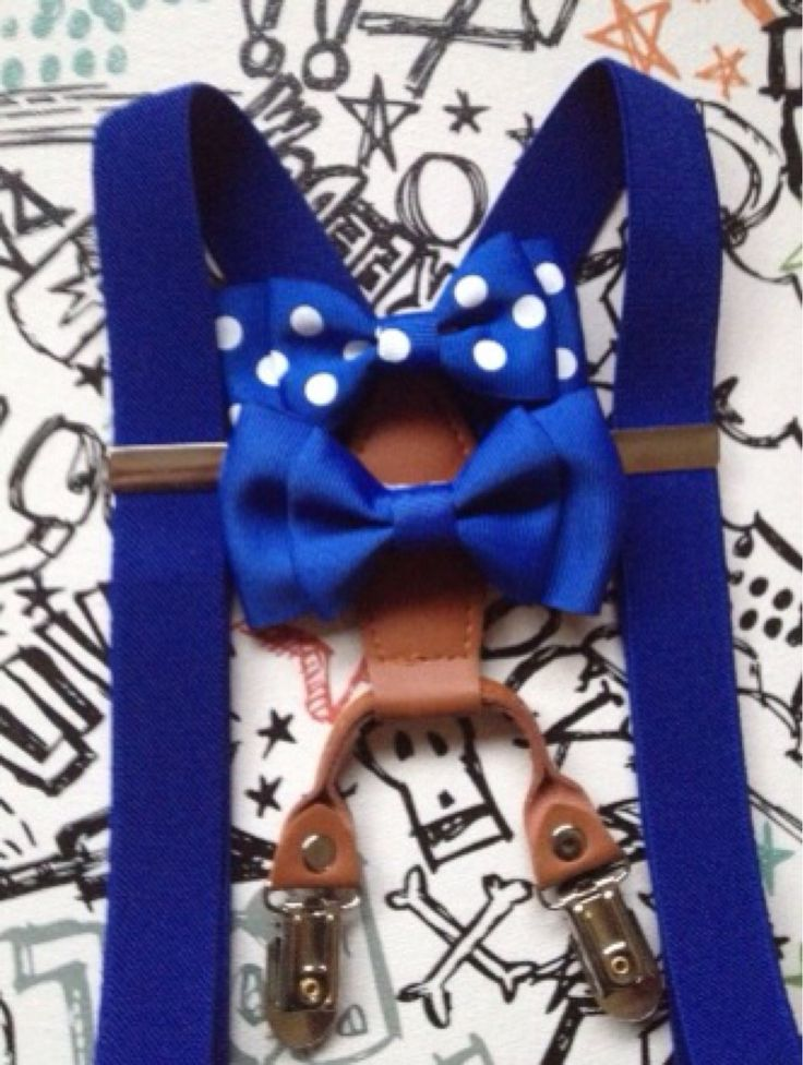 Bowtie & Suspender Set Royal Blue Baby bow tie Toddler necktie Wedding Ring Bearer Mens Bow Tie First Birthday Outfit Cake Smash double up by BePrettyBeBold on Etsy https://www.etsy.com/listing/167515052/bowtie-suspender-set-royal-blue-baby-bow